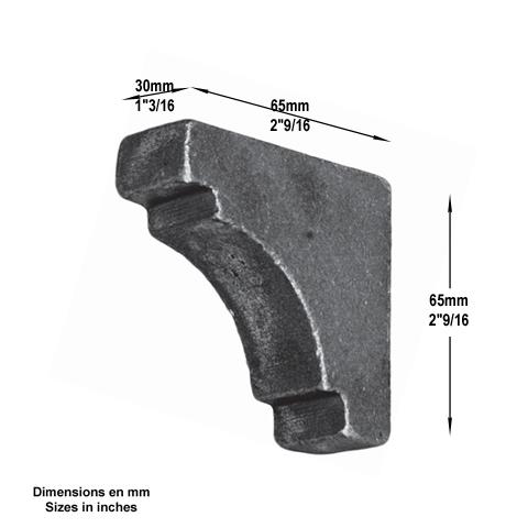 Renfort d 39 angle tube 30x30mm fn3545 renfort d 39 angle renfort - Portail d angle ...