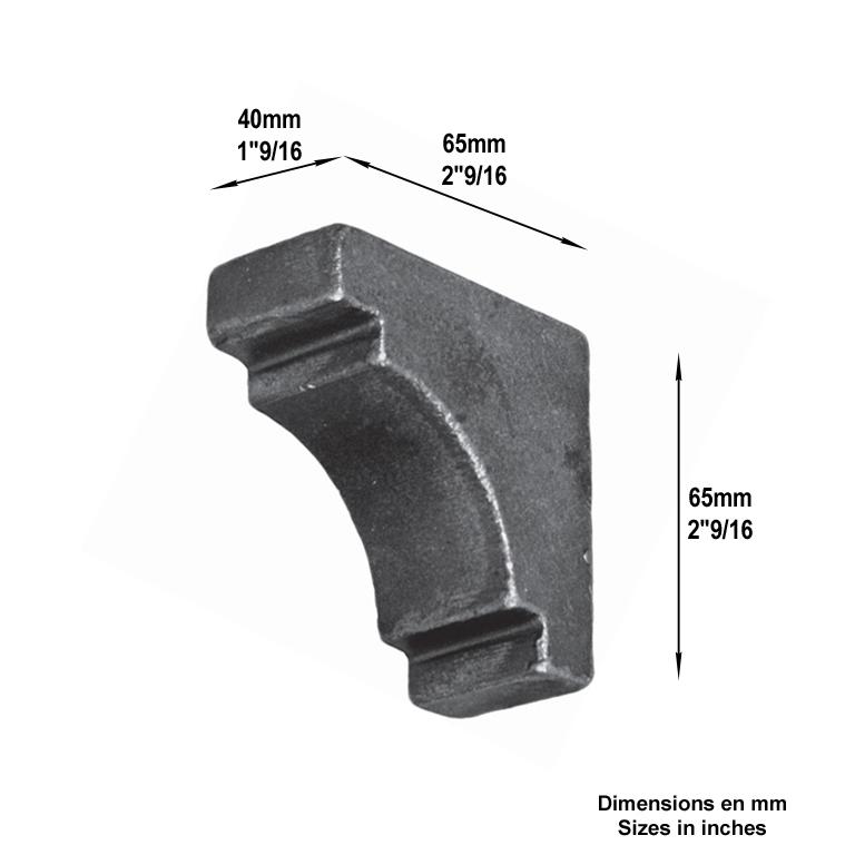 Renfort renfort d 39 angle renfort d 39 angle tube 40x40mm - Portail d angle ...