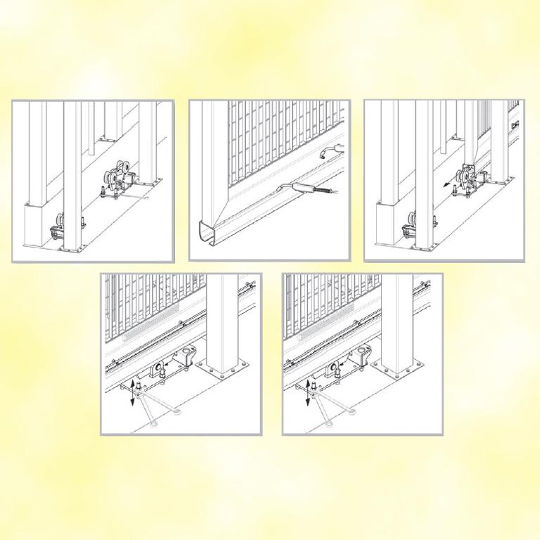Chariot pour portail aotoport coulissant cantilever - Portail 6m de long ...