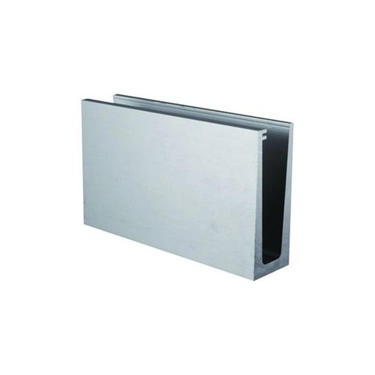 Profil aluminium rail pour plaque de verre fixation au sol for Plaque de verre pour table