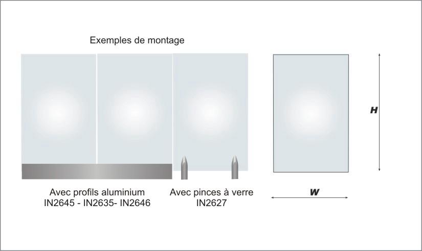 Plaque de verre standard carr e ou rectangle feuillet e - Decoupe verre sur mesure ...