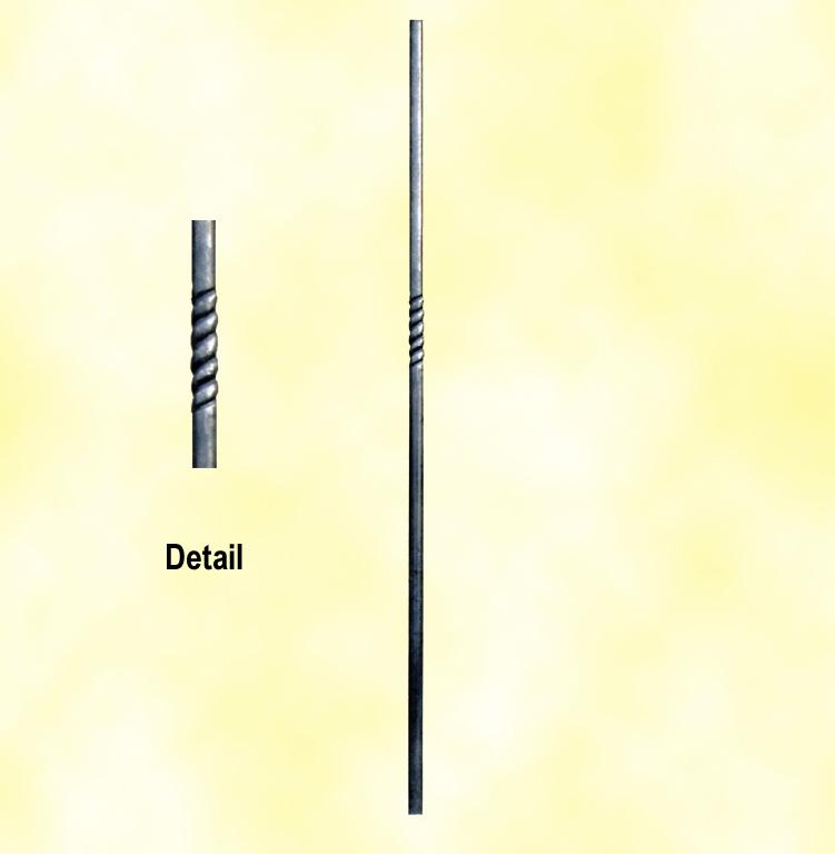 Poteau torsad 25mm hauteur 1200mm fh2823 poteau acier forg - Poteau a linge en fer ...