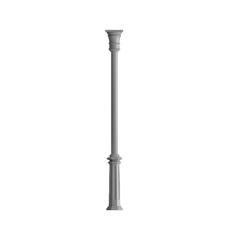 Poteau colonne poteau lisse fonte d 39 alu poteau colonne for Poteau luminaire exterieur