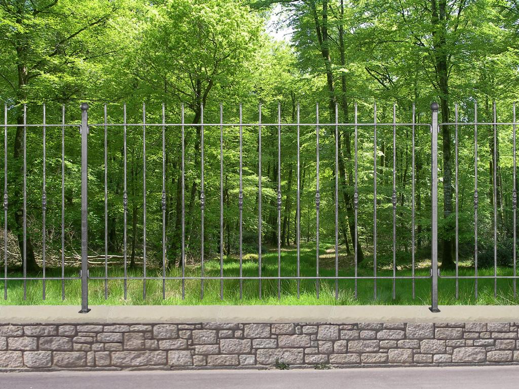 Cloture pr te poser acier - Cloture de jardin facile a poser ...