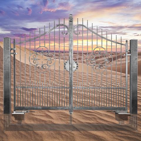 Portail afrodite ouverture m canisable portail afrodite 3m for Portail 3m