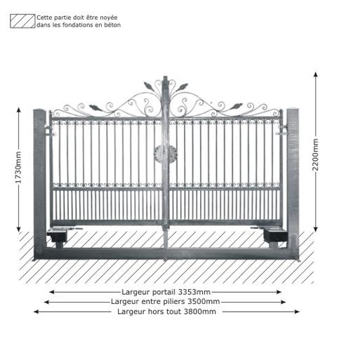 portail artemide 3 5m 14x14 structure motorisable ft43611 ou. Black Bedroom Furniture Sets. Home Design Ideas
