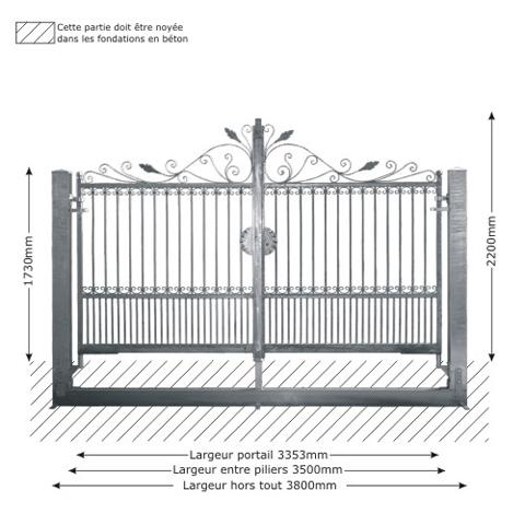 portail artemide ouverture manuelle portail artemide 3 5m. Black Bedroom Furniture Sets. Home Design Ideas