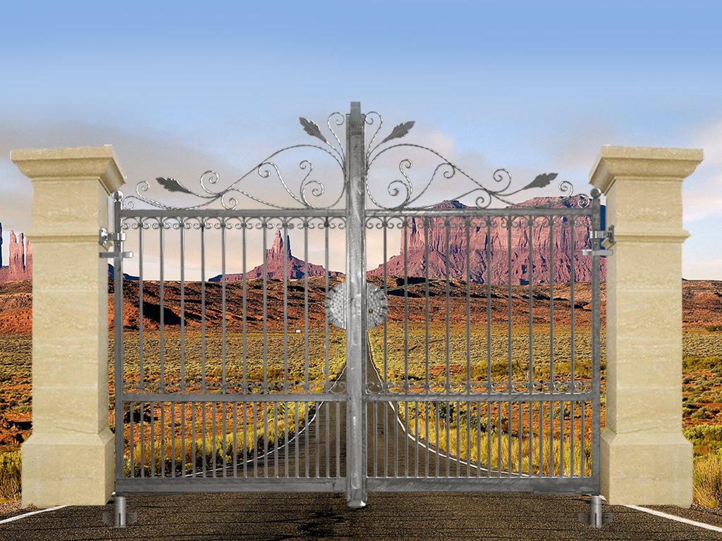 Portail artemide 3m 14x14mm ouverture manuelle ft43624 ouver - Norme europeenne en 13241 1 ...
