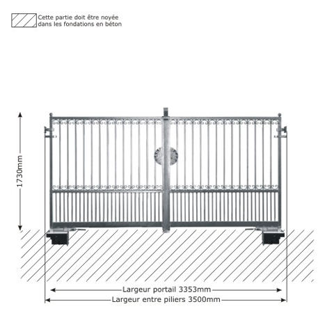 portail gea 3 5m 14x14 ouverture motorisable ft43633 ouvertu. Black Bedroom Furniture Sets. Home Design Ideas