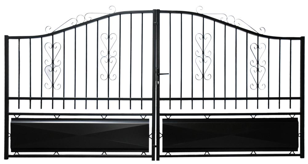 portail fer 3 5m lacanau battants fv4653 portail ouvrant p. Black Bedroom Furniture Sets. Home Design Ideas
