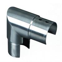 Coude vertical pour main courante inox de garde corps en verre