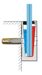 schéma de montage d'un revêtement inox 316 sur un profil aluminium