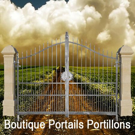 portails et portillons prêts à poser en largeur 3m et 3,5m